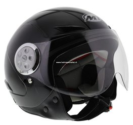 MT kinder jet helm Urban zwart